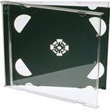 Dragon Trading® - Cajas para CD (25 unidades, 10,4 mm, 2 unidades), color negro