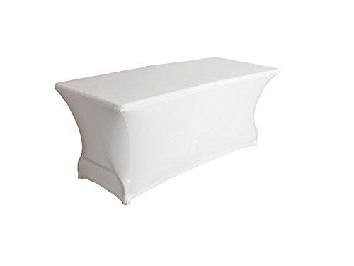 Tischüberzug Tischhusse Husse rechteckig strech weiß abwaschbar für FP180