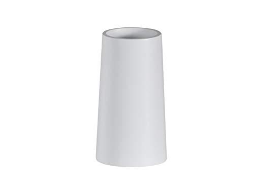 Showerdrape Gobelet de Salle de Bain en résine Blanc Alto