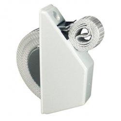 Gurtwickler Halbeinlass Ausführung min Farbe weiß mit 14 mm Gurt