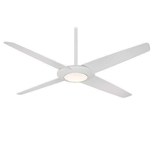 Minka-Aire F739L-WHF Pancake XL 62 Inch LED Ceiling Fan with DC Motor in Flat White Finish