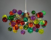 Colorful Bubbles Pendant Light - Handmade Hanging Lights - Ceiling Light for Kids Bedroom, Living Room - Unique Decorations for Home & Kitchen - Cool Gift Ideas