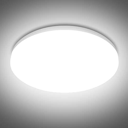 LED Deckenleuchte Rund 36W, SUNZOS 3240LM Deckenlampe Led für Lampe Wohnzimmer, Schlafzimmer, Küche, Flur, Balkon, Keller, Neutralweiß 4000K Deckenleuchte Led, 23cm Durchmesser Led Leuchte