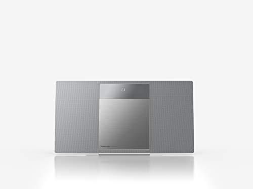 Panasonic SC-HC412EG-S HiFi-System, kompakt, multifunktional, CD, Bluetooth, FM-Radio, DAB+, AUX-IN Autoplay, USB, Space Tune, LincsD-Amp, hohe Audioqualität, Wandmontage, Silber