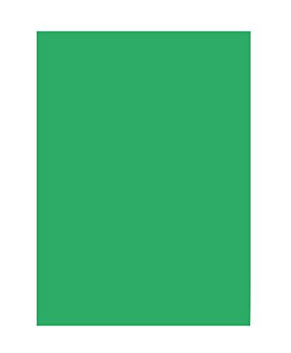 folia 6354 - Tonpapier smaragdgrün, DIN A3, 130 g/qm, 50 Blatt - zum Basteln und kreativen Gestalten von Karten, Fensterbildern und für Scrapbooking