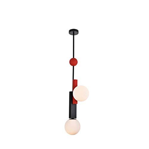 HTL Lámpara Colgante Nórdica Moderna Led Lámpara de Colgante de Metal Geométrico para Restaurante Lámpara de Mesa de Sala de Estar Araña,B