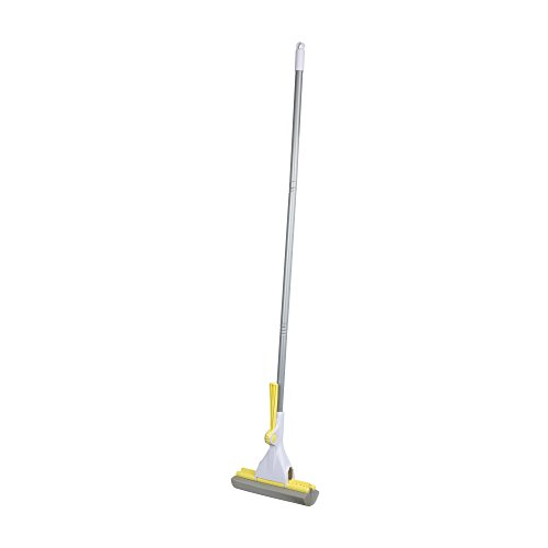 Casabella Basics Ratchet Roller Mop, Silver and Yellow