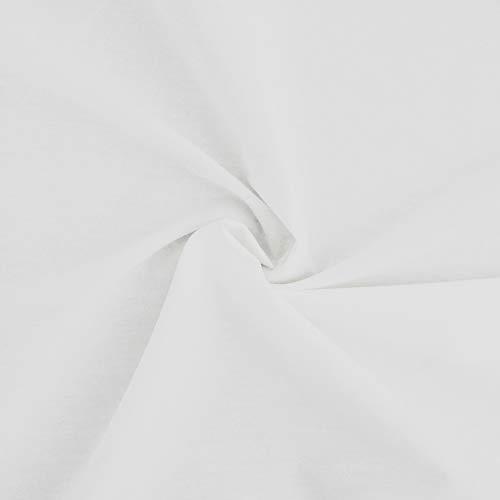 designers-factory - Tejido de popelín de algodón 100% - disponible en 11 colores (Blanco, 1m x 1m46)