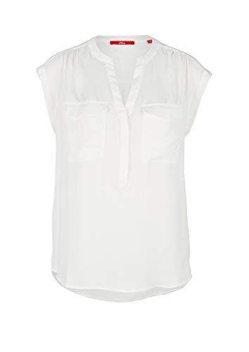 s.Oliver Damen 120.10.004.10.100.2036781 Bluse, 0210 Cream, 46