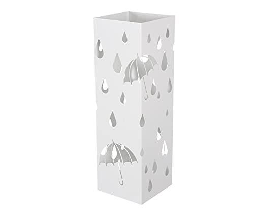 HERSIG - Paraguero Original | Paragueros de Diseño de Estilo Moderno para Paraguas Largos y Paraguas Plegables de Color Blanco
