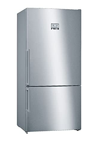 Bosch Elettrodomestici KGN86AIDP Serie 6, Frigo-congelatore combinato da libero posizionamento, 186 x 86 cm, inox-easyclean