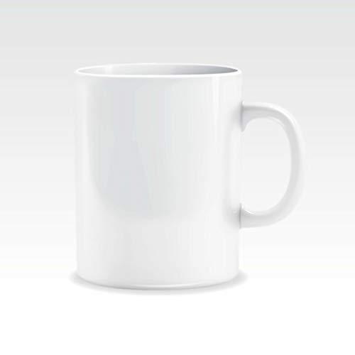 Taza de cumpleaños personalizada, con aspecto bueno, taza en blanco, taza de 325 ml (no impresa))