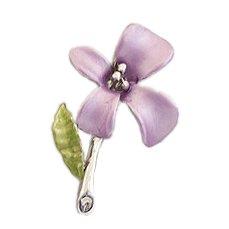 [ノーブランド] ピンブローチ 小さい花 パープル