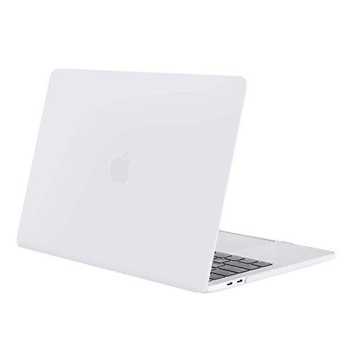 MOSISO MacBook Pro 13 inch Case 2019 2018 2017 2016 Release A2159 A1989 A1706 A1708, Plastic Hard Shell Cover Compatible with MacBook Pro 13 with/without Touch Bar and Touch ID, White