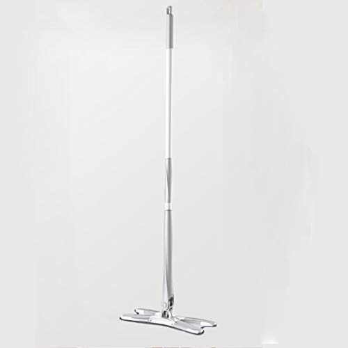 Review Of QYLSH Professional Microfiber Mop, Hardwood Floors 360 Rotating -2 Washable Flat Mop Pad/Floor for Wet Or Dry Cleaning (Gray)