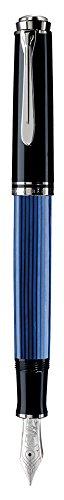 Pelikan Premium M805 Füllfederhalter, Feder F Plume Schwarz/Blau