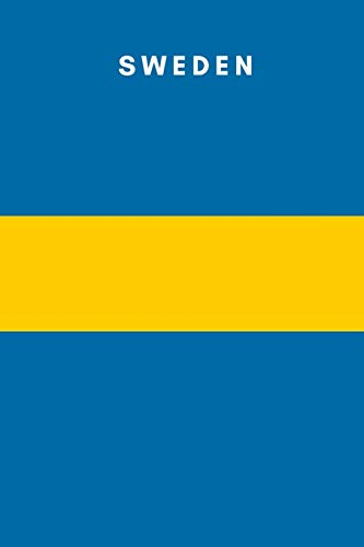 Sweden: Country Flag A5 Notebook to write in with 120 pages