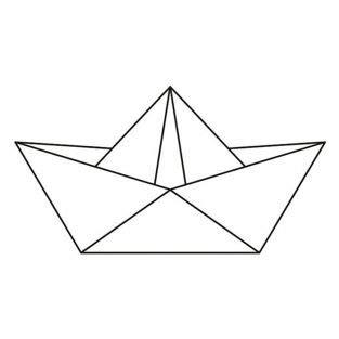 Artemio Holz Stempel 6,6 x 3,7 cm - Origami Boot
