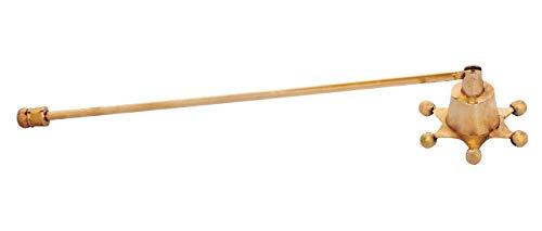 ARSUK Candle Snuffer Set Feuerlöscher aus massivem Messing Nickel Holz Kerzenabdeckung Werkzeug zum sicheren Löschen (Messing-Stern-Form)