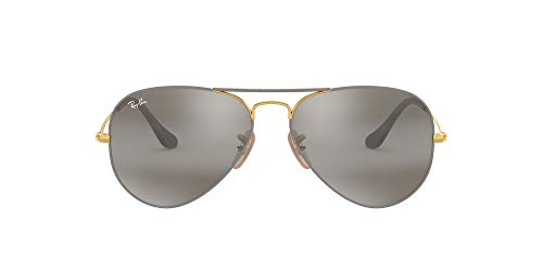 Ray-Ban 0Rb3025 Gafas de Sol, Gold On Top Matte Grey, 57 para Hombre