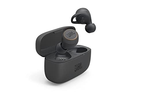 JBL LIVE 300TWS – Écouteurs intra-auriculaires sans fil – Bluetooth et étanchéité IPX5 – Autonomie de 20 heures avec l'étui de recharge – Couleur : noir