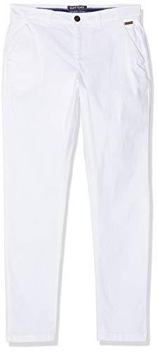 Superdry Damen City Chino Pant Hose, Weiß (Optic White 26c), L (Herstellergröße:14)