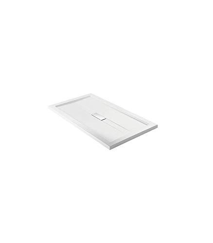 Teuco - Douchebak rechthoekige witte collectie Wilmotte - 160X90, Wit, Op voorraad