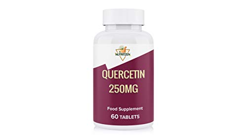 NUTRITZEN QUERCETIN - 60 Tablets 250mg - Natural Health Supplement - Immune Support - Relieves Allergies - Gain Energy - Made in UK