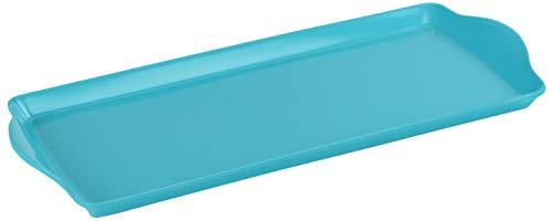 Calypso Basics Melamine Tidbit/Sandwich Tray, Turquoise