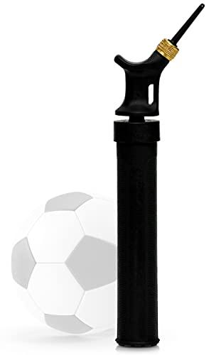 L + H WORLD Bomba de aire para válvulas de aguja | bomba universal y compacta para inflar diferentes pelotas, ideal para fútbol, baloncesto, voleibol, gimnasia y todas las demás válvulas.