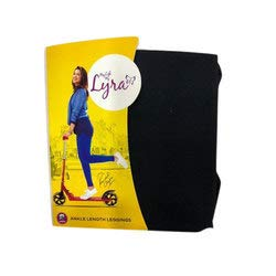 LUX LYRA Women's Cotton Ankle Length Leggings (Black, Free Size)
