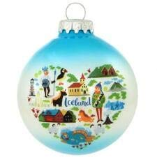 On Holiday Iceland Icons Heart Christmas Tree Ornament