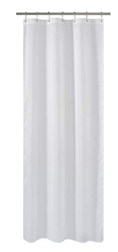 N&Y HOME Fabric Shower Curtain or Liner 36 x 72 Inches Bath Stall Size with 2 Bottom Magnets, Hotel Quality, Washable, Water Repellent, White Spa Bathroom Curtains with Grommets, 36x72