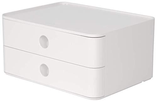 HAN SMART-BOX ALLISON – kompakte Design-Schubladenbox mit 2 Schubladen, hochglänzend und in Premium-Qualität, snow white, 1120-12