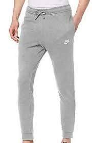 NIKE M NSW Club JGGR FT Pants, dk Grey Heather/Matte Silver/(White), 4XL Mens
