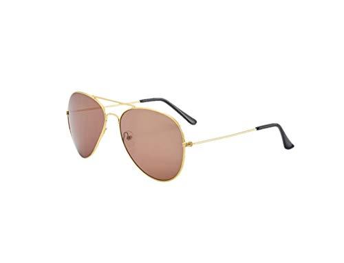 Logo Gafas de sol, gafas de aviador, gafas de sol, color marrón