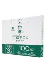 箱入りゴミ袋120L 1000x1200x0.020厚 半透明 100枚小箱 HDPE素材