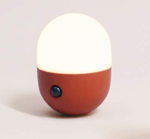 La luz nocturna recargable con sensor de cápsula es adecuada para la luz de contacto de emergencia en el armario del dormitorio.