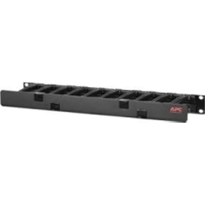 Schneider Electric AR8602A - Manager de cables horizontal 44, 1U x 4 pulgadas de profundidad 44; una cara con cubierta