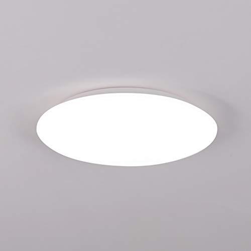 Badezimmer lampe,18W led deckenleuchte,IP44 Wasserfest Badlampe, 6500K Deckenlampe,1530m bad lampen decke ideal für Badezimmer Balkon Flur Küche Wohnzimmer, Kaltweiß badlampe decke Ø28cm