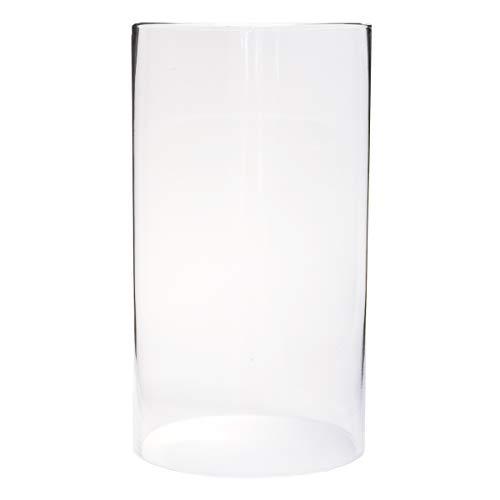 Varia Living Glaszylinder ohne Boden für Windlicht   Verschiedene Größen verfügbar Ersatzglas   für draußen und innen   offenes Glasrohr groß   transparent (Ø 15 cm/H 27,5 cm)