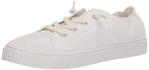 Madden Girl Women's Marisa Sneaker, White Fabric, 6