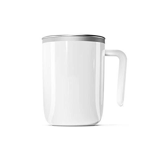 Zelfroerende beker, reis-zelfmengbeker, roestvrijstalen beker, koffie-/melk-mixer-Sap Lazy Cup voor thuiskantoor