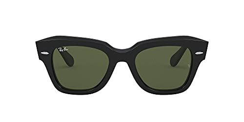 Ray-Ban State Street Lentes oscuros, Negro/Verde, 49 para Mujer