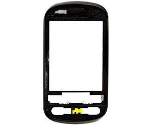 Frontcover A-Cover vorderes Cover LG P350 (ohne Displayglas) schwarz für P350 schwarz-silber