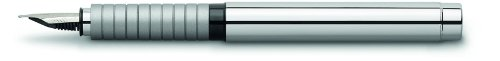 Faber-Castell 148500 - Füllfederhalter Basic Metall, Feder M, silber glänzend