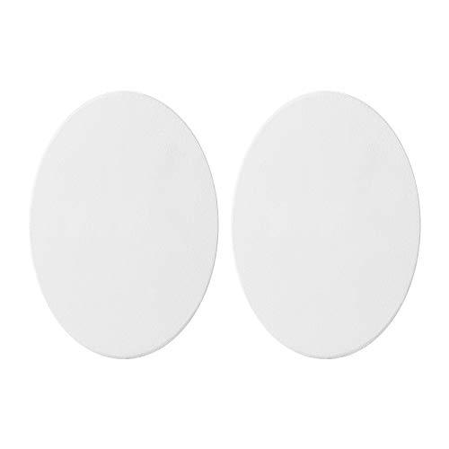 Lienzo ovalado para pintura al óleo, con marco, bastidor con tela para pintura artística, color blanco, 2 unidades, Lino puro., 30cm*40cm
