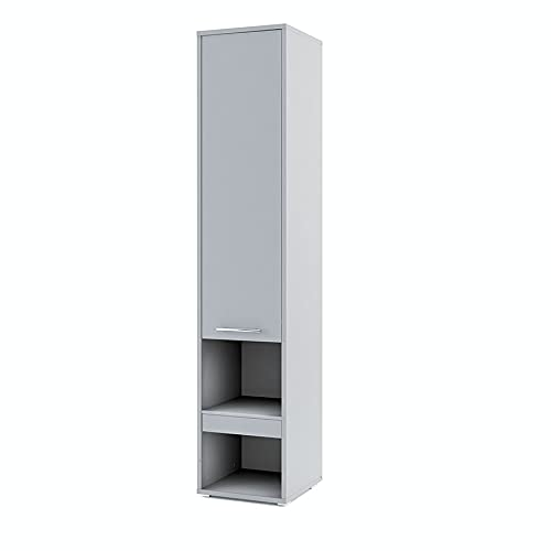 Furniture24 Beischrank Concept PRO CP7 Schrank Hochschrank für Wandbetten 1 Tür 1 Scublade (Grau)