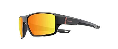 Solar JSL1659 Kat.3 - Gafas de sol para hombre, color negro y naranja mate