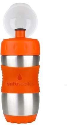 Kid Basix, Borraccia in acciaio inox e silicone per bambini, Arancione (Orange)